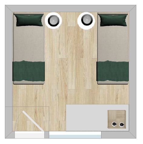 Bunkhouse TW layout